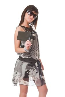 Free Girl With A Handbag Royalty Free Stock Photos - 13845978