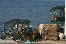 Free Discarded Lobster Traps Stock Photography - 13846252