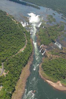Free Iguasu Waterfalls Bird S Eye View Stock Photos - 13847123