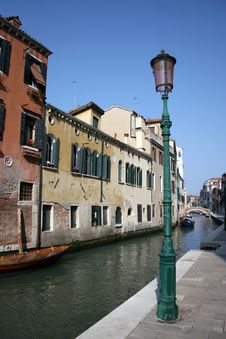 Free Boats On Backwater, Venice Royalty Free Stock Image - 13847356