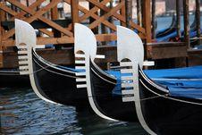 Free Prows Of Gondolas, Venice Royalty Free Stock Photos - 13847368