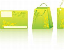 Free Green Shopping Set Stock Photos - 13847463
