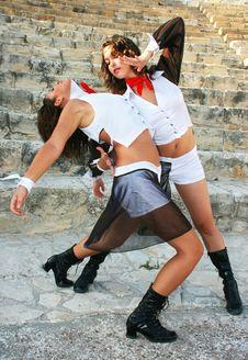 Modern Dancers Stock Photography