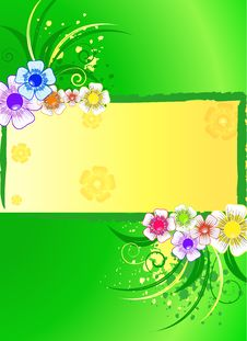 Free Abstract Background With Wild Flowers Stock Photography - 13847752