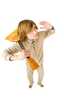 Free Funny Man With Balalaika Royalty Free Stock Photo - 13847755