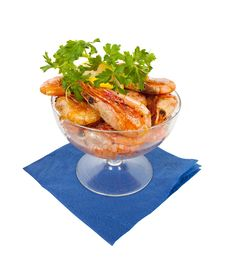 Free Grilled Shrimps Stock Photo - 13848180