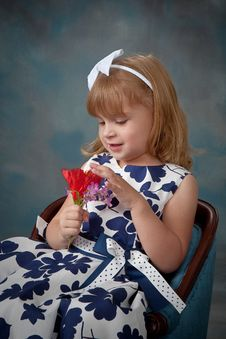 Portrait Of Pretty Little Girl Stock Photography