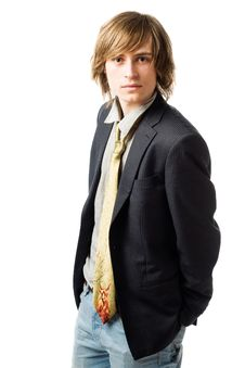 Free Waist Up Portrait Of Young Man Royalty Free Stock Photo - 13848425