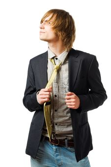 Free Waist Up Portrait Of Young Man Stock Photography - 13848662