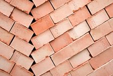 Free Background Of Many Red Bricks For Cinstruction Stock Image - 13848771