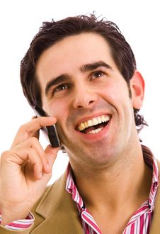 Free Man On The Phone Royalty Free Stock Image - 13849156