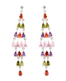 Free Coloured Earrings On White Royalty Free Stock Photos - 13849228