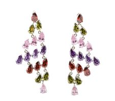 Free Coloured Earrings On White Stock Photo - 13849290