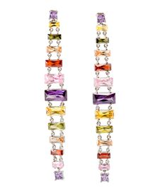 Free Coloured Earrings On White Royalty Free Stock Photography - 13849337