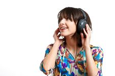 Free Girl With Headphones Royalty Free Stock Photo - 13849345