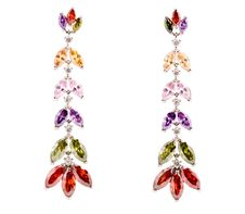 Free Coloured Earrings On White Stock Photo - 13849370