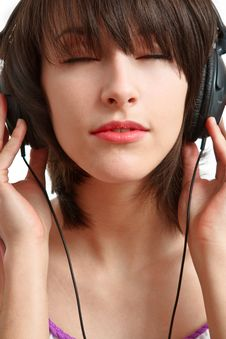 Free Girl With Headphones Royalty Free Stock Photos - 13849528