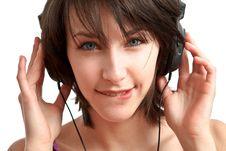 Free Girl With Headphones Stock Photos - 13849573