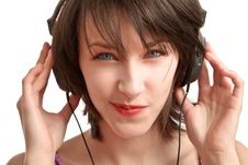 Free Girl With Headphones Stock Photos - 13849603