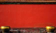 Red Wall Of Forbidden City Stock Photo