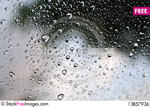 Free Water Droplet On Clear Glass Royalty Free Stock Image - 13857936