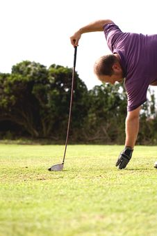 Free Golfer To Tee Off. Royalty Free Stock Images - 13850179