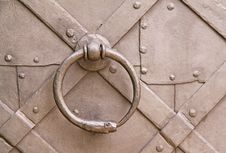 Free Steel Knocker Royalty Free Stock Photo - 13850275