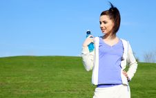 Free Young Woman Drinking Water Stock Images - 13850684