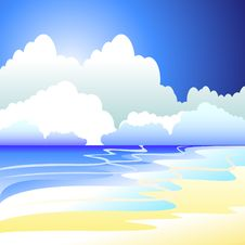 Free Vector Illustration Of Sea Stock Photos - 13851073