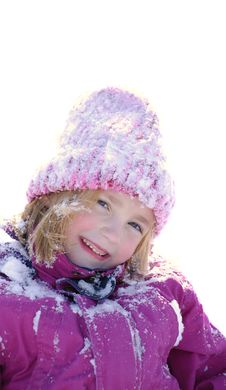 Free Little Girl In Snow Stock Photos - 13851103