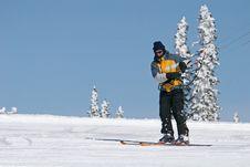 Free Kite Skier Royalty Free Stock Photos - 13851278