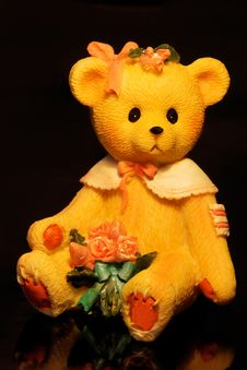 Free Teddy Bear With Flower Royalty Free Stock Images - 13851909