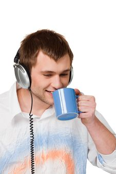Free Man Enjoying Music Stock Photography - 13851962