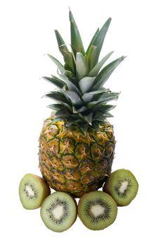 Free Pineapple And Kiwi Fruit Stock Images - 13852044