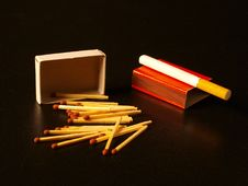 Free Matches And Cigarette Stock Photo - 13852090