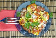 Yummy Tortellini Royalty Free Stock Image
