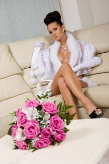 Free Woman In White Fur Royalty Free Stock Images - 13852719