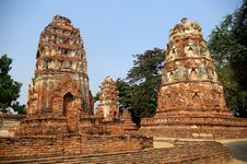 Ruins Of Buddhist Temple Stock Photos