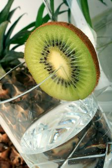 Free Kiwi With Mineral Water Stock Photography - 13853282