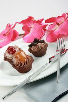 Fruit Tarts, Elegance Presentation Stock Image