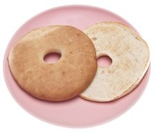 Free Bagel On A Plate Royalty Free Stock Photography - 13853687