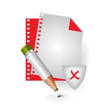 Free Bad File Icon Stock Image - 13853831