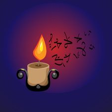 Free Candle In The Cave Stock Image - 13853901
