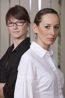 Two Businesswomen In Office Royalty Free Stock Photos