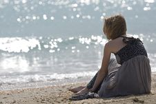 Free The Girl And The Sea Stock Images - 13854464