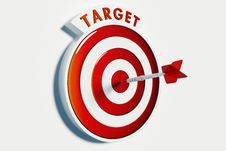 Target And  Success Royalty Free Stock Photos
