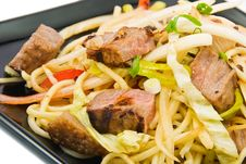 Free Noodles And Three Kinds Of Meat Stock Images - 13856704