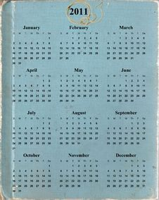 Free 2011 Calendar Stock Images - 13856774
