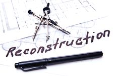 Free Reconstruction Plan Royalty Free Stock Images - 13856949