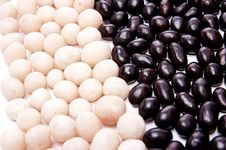 Free Black And White Nuts Royalty Free Stock Photos - 13856958